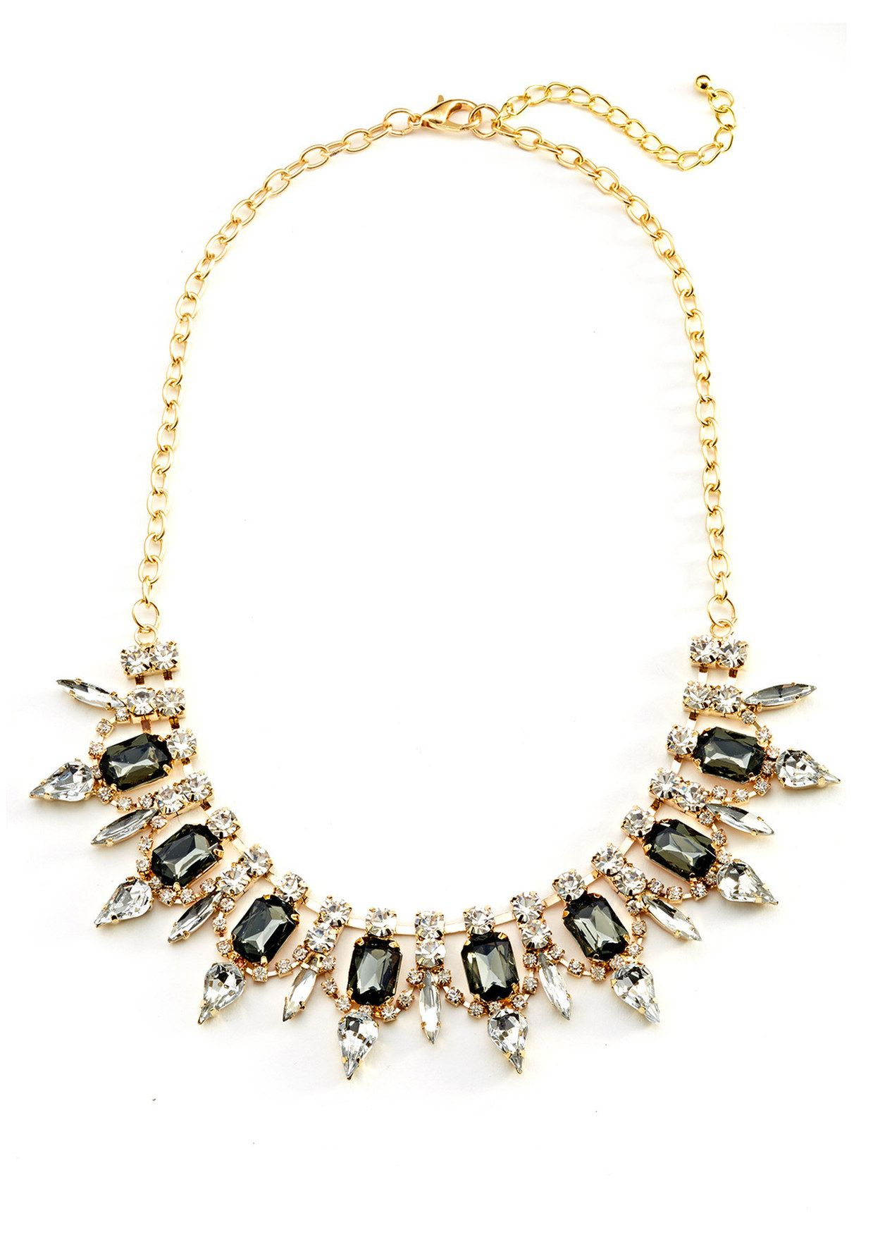 CARA COUTURE Gem Drop Crystal Necklace | ideel | My Style ...
