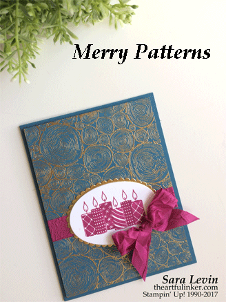 Merry Patterns with Tree Rings by Artful Inker - Cards and Paper Crafts at Splitcoaststampers