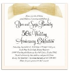 50th wedding anniversary invitations simple - Google Search | 50th ...