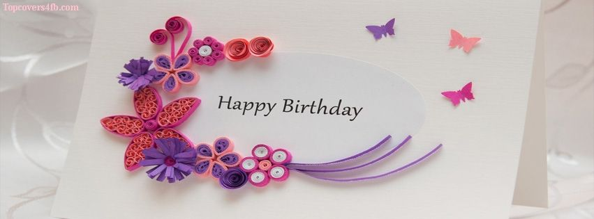 Ribbon Flowers Birthday Card Facebook Covers For You To Use On Your