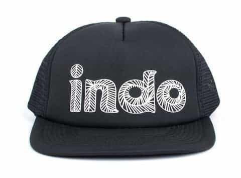 Indo Trucker Hat - Black