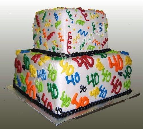 Incredible Happy 40Th Birthday Cake 40Th Birthday Cakes 40Th Cake Happy Funny Birthday Cards Online Inifodamsfinfo