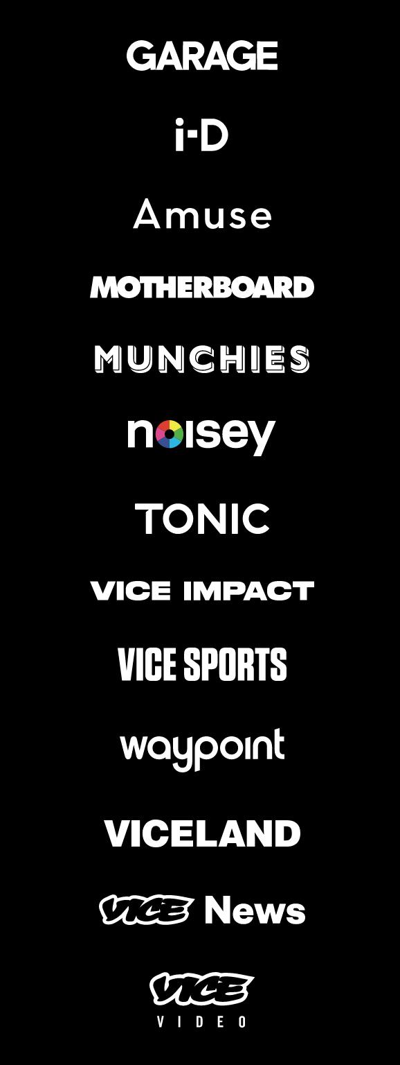 Vice Wordmarks Pt 01 Tech Company Logos Company Logo Vice