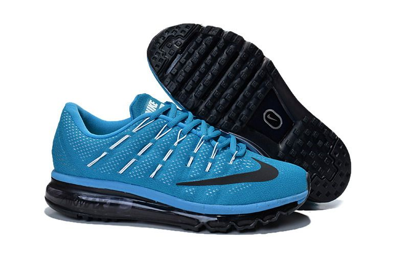 Men's Nike Nike Air MAX 2016 Running Shoes All Blue popular