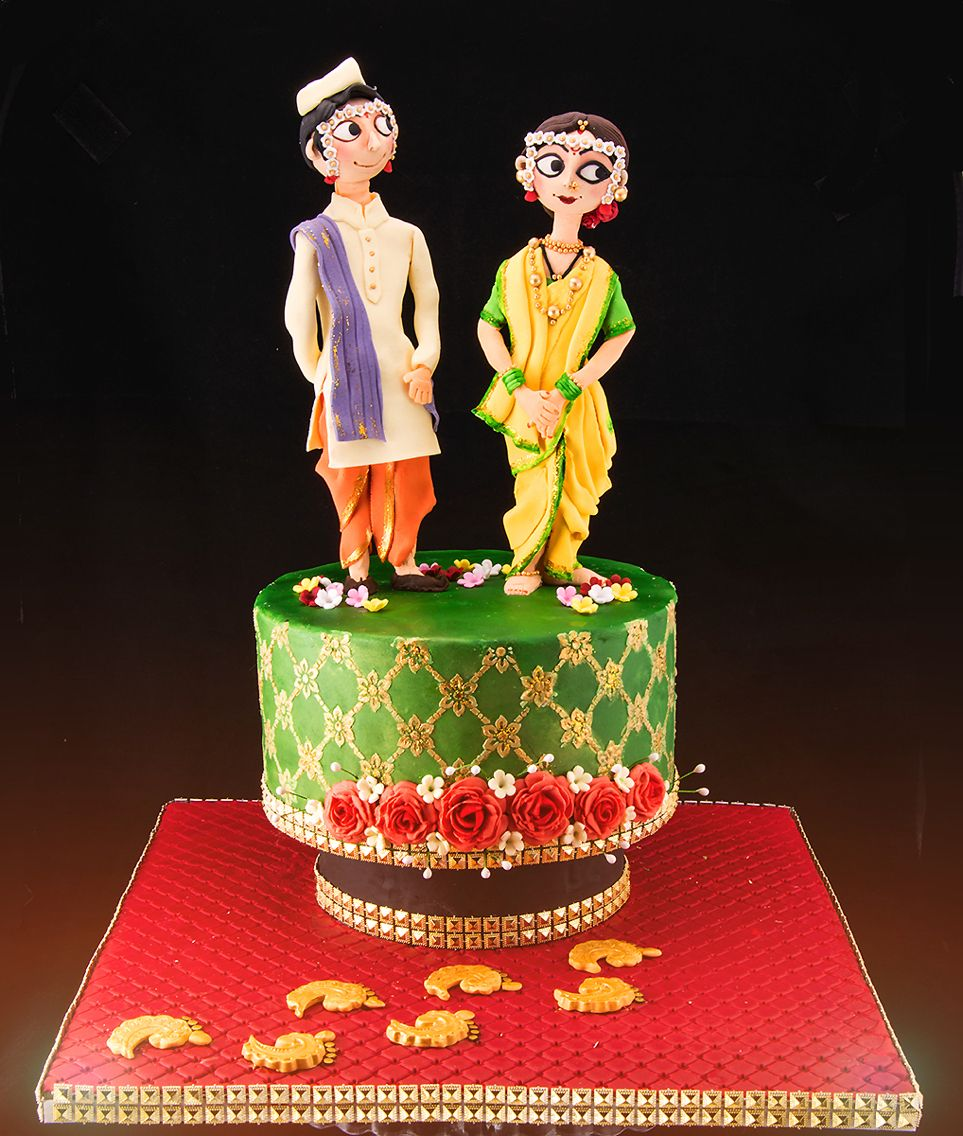 hindu wedding cake facts maharashtrian wedding मर ठ marathi 15238