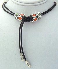 aad313b95 PANDORA Lariat Necklace with Orange Oval Lights. Pandora Necklace, Pandora  Bracelets, Pandora Jewelry