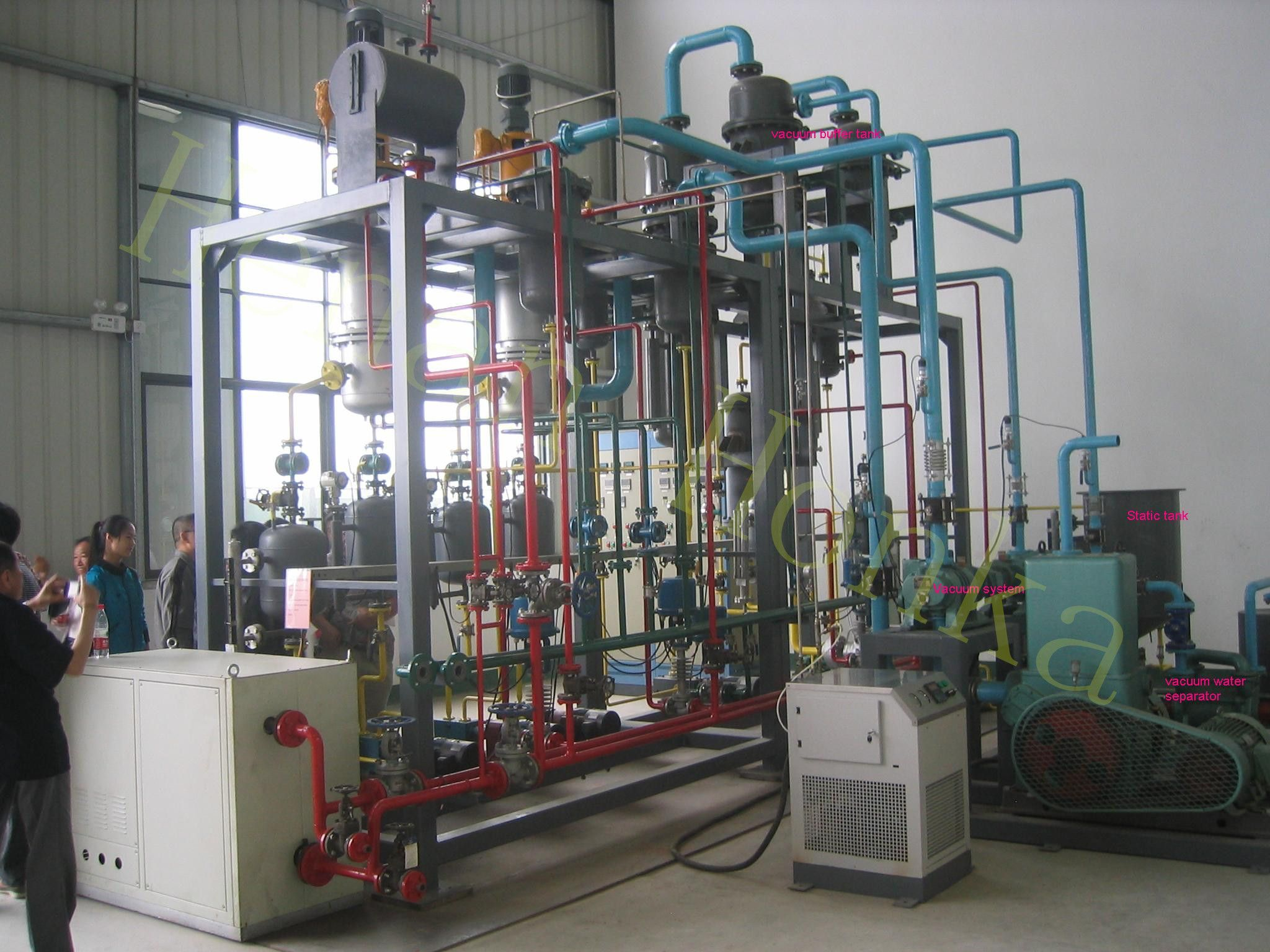 1 2Tons day Thin Evaporator base oil plant