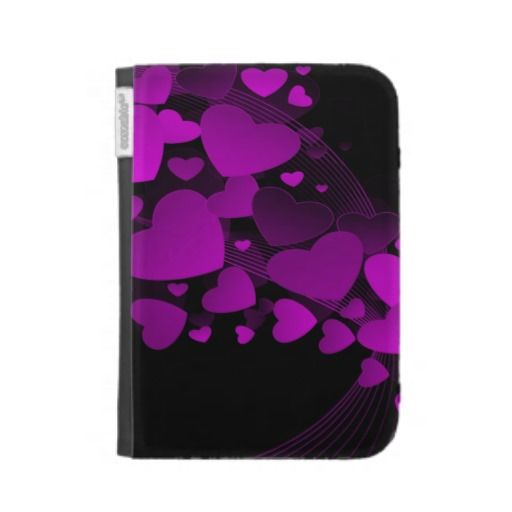 Pretty Purple Floating Hearts Kindle 3G Cover | Gadgets