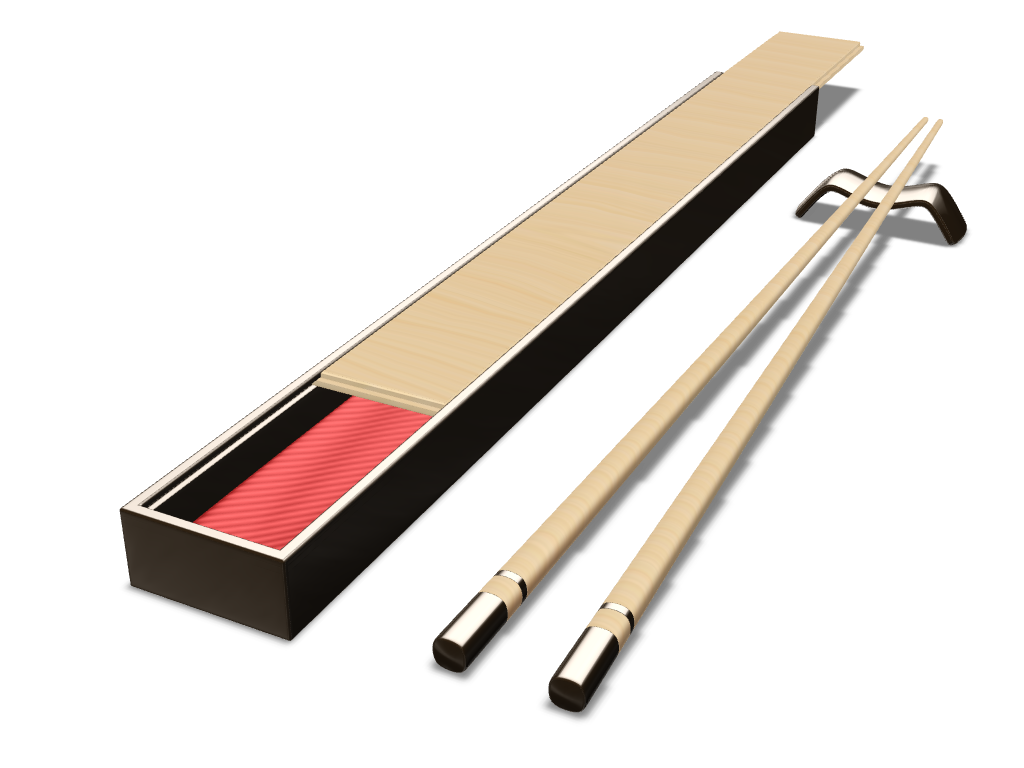Chopsticks - a 3D model created with VECTARY - the free