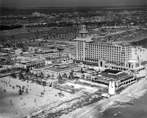 Aerial View Of The Roney Plaza Hotel