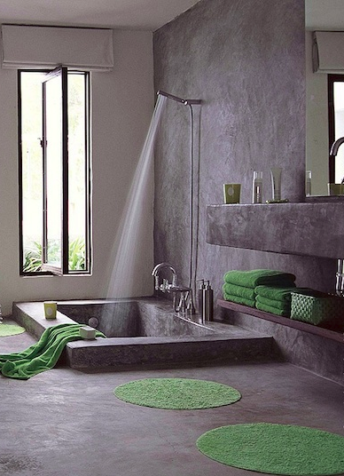 Wet Room Shower Curtains >> 27 Tadelakt Bathroom Design Ideas | Bath tubs, Tubs and Concrete