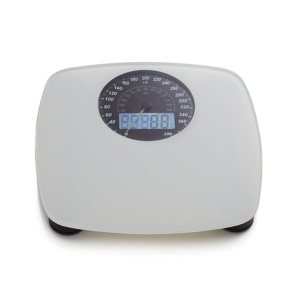 Crate And Barrel Digital/Analog Bathroom Scale