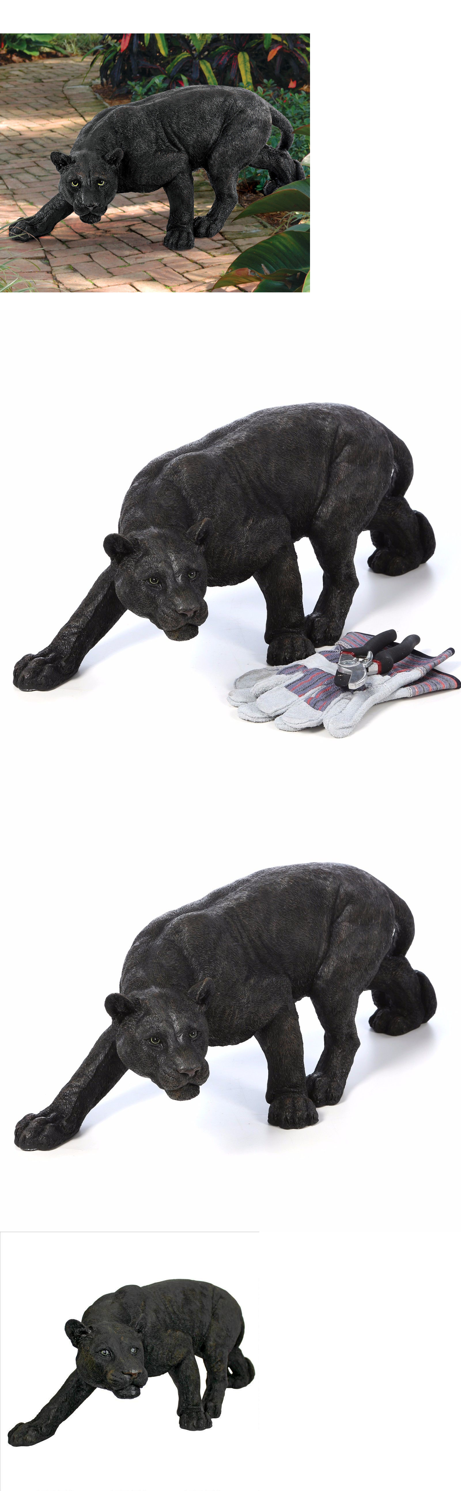 Garden decor statues  Statues and Lawn Ornaments  Shadowed Predator Panther Statue