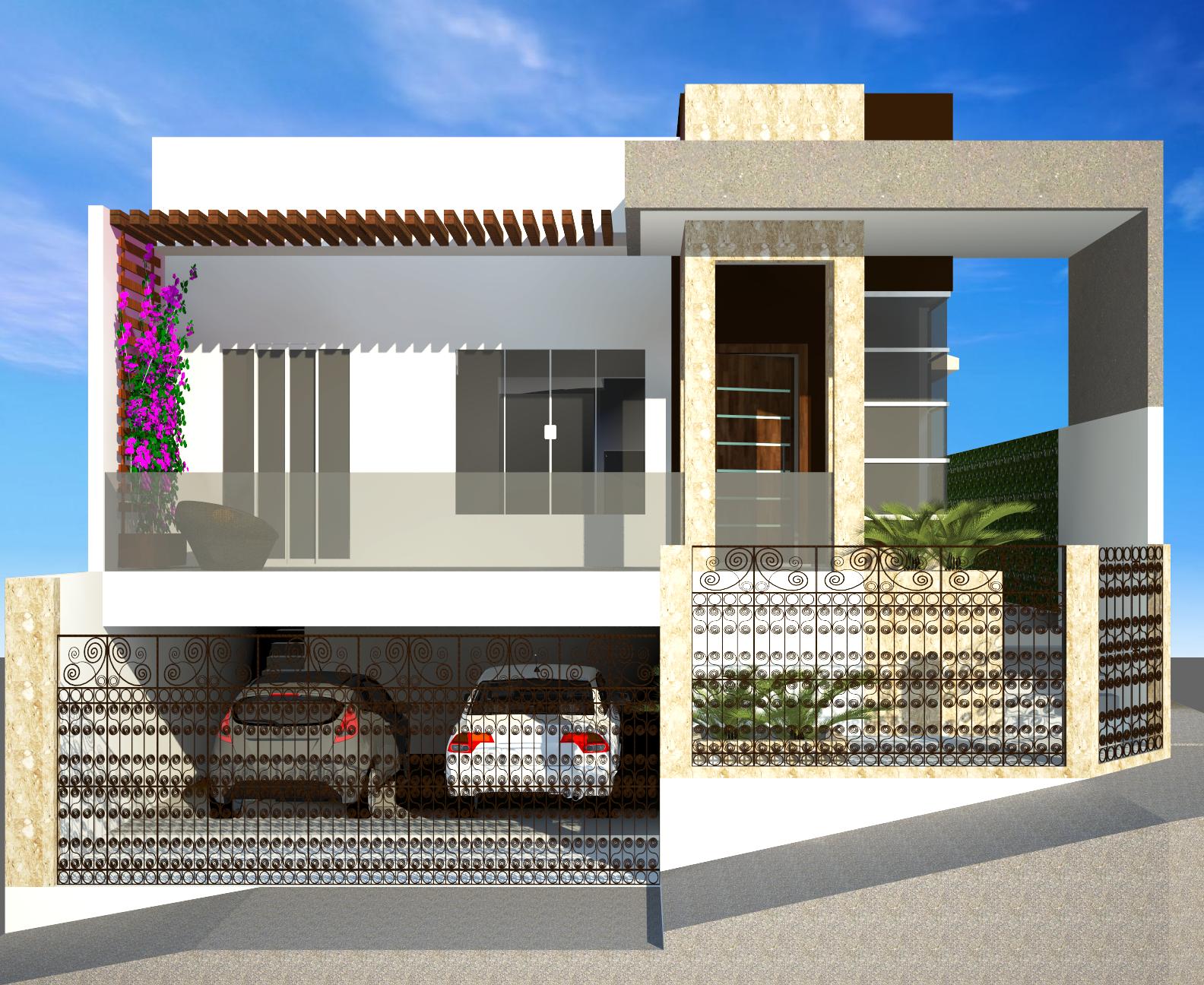 Fachadas de casas modernas de 2 plantas alojamiento de for Modelos de casas minimalistas de dos plantas