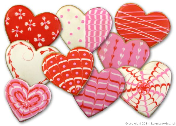 valentines day cookie decorating ive never tried to decorate cookies like this - Decorated Valentine Cookies