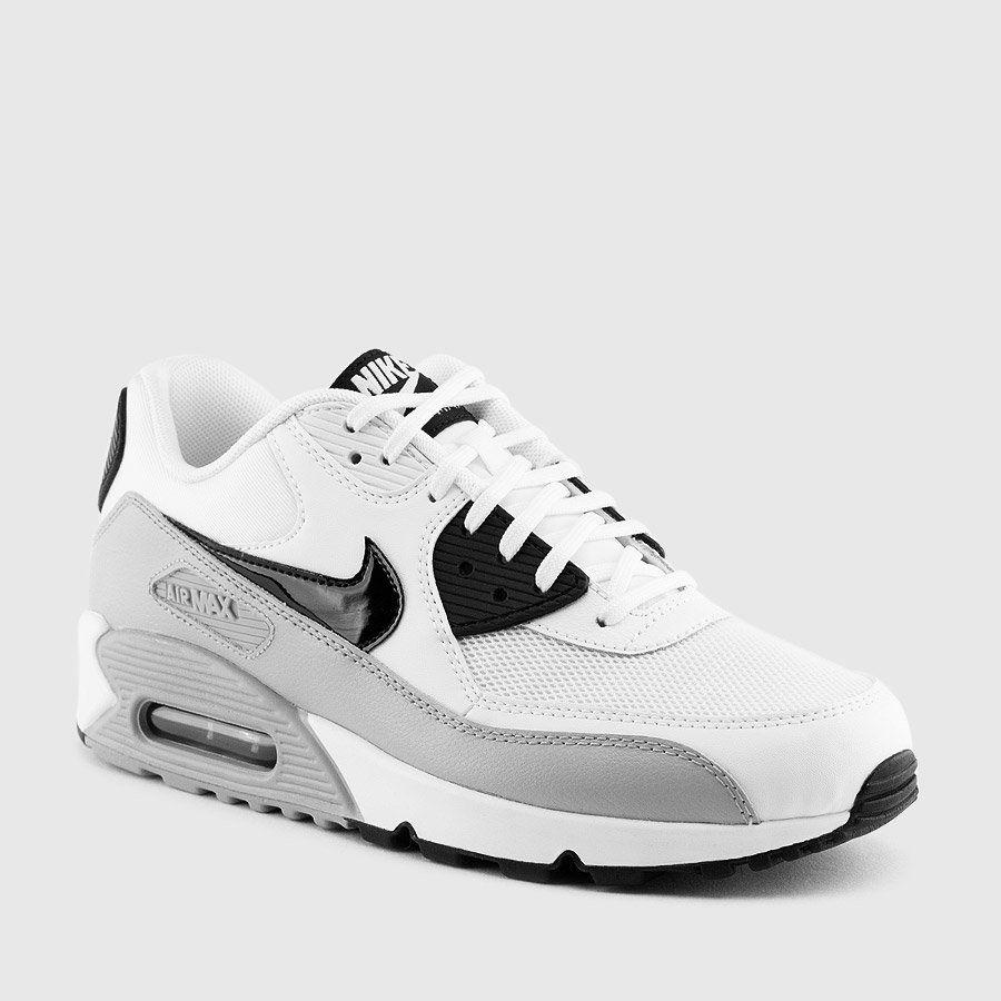 Nike Women S Air Max 90 Essential White Wolf Grey Black Sneakers Nike Nike Shoes Women Nike
