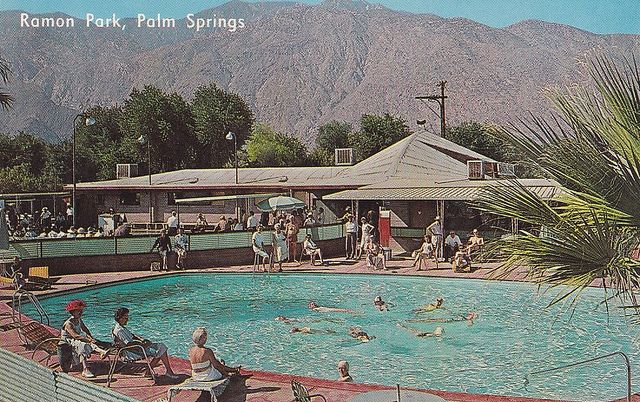 Ramon Mobile Home Park Palm Springs 1960s Mobile Home Parks Palm Springs Round Pool
