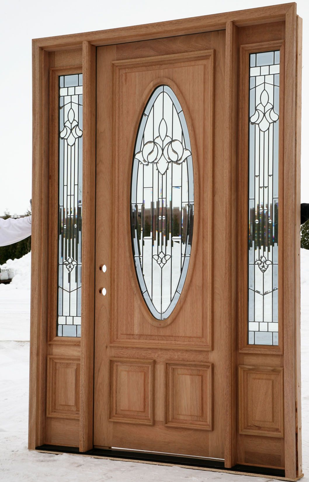 Exterior Wood Entry Doors : Exterior entry doors with sidelights house ideas