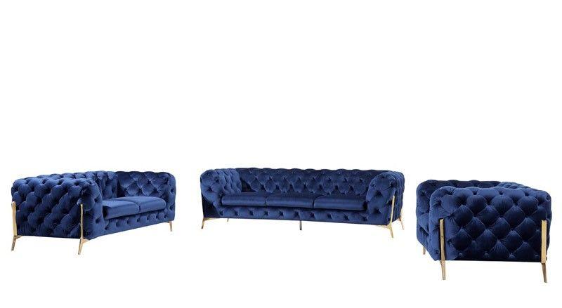 Best Vig Furniture Divani Casa Sheila Modern Dark Blue Fabric 400 x 300