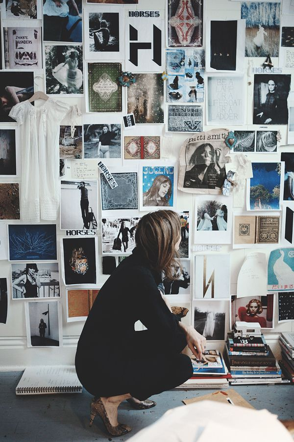 15 Real Life Mood Boards To Get Those Creative Juices Flowing Block Print Social Inspiration Wall Studio Space Design