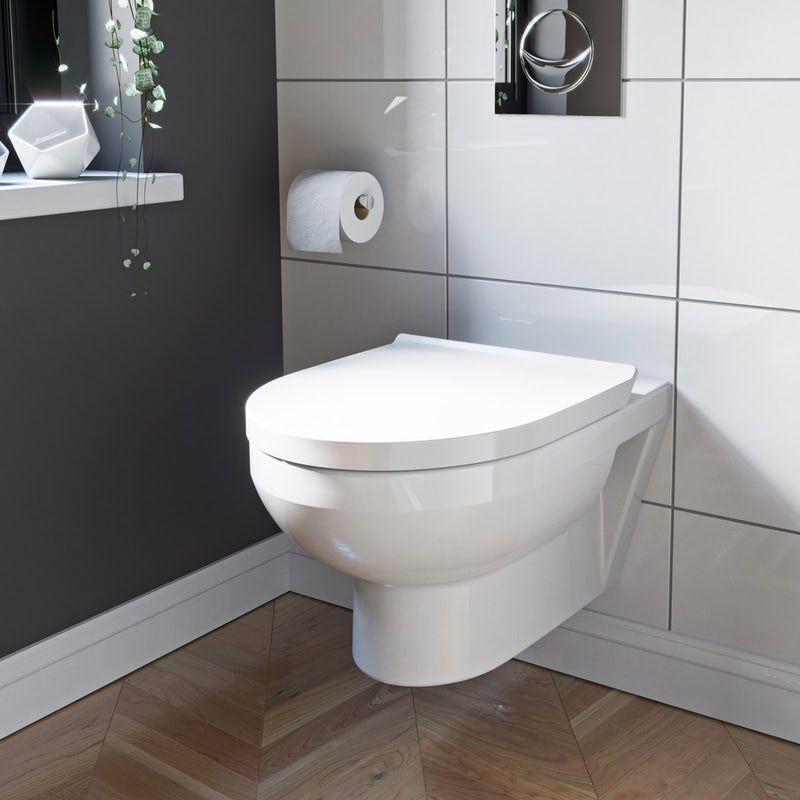 Duravit Durastyle Basic Rimless Wall Hung Toilet Grohe Rapid Sl