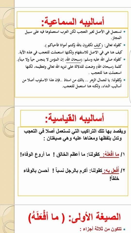 اسلوب التعجب في اللغة العربية Bullet Journal Journal