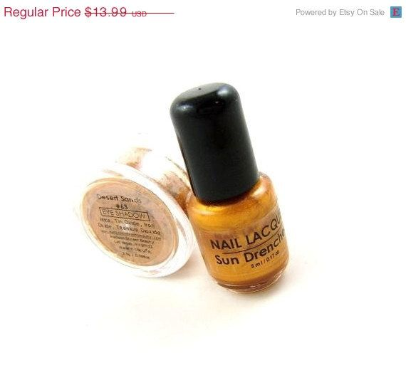 60% OFF SALE Desert Sands and Sun Drenched Nail Lacquer and Eye Shadow Gift Set