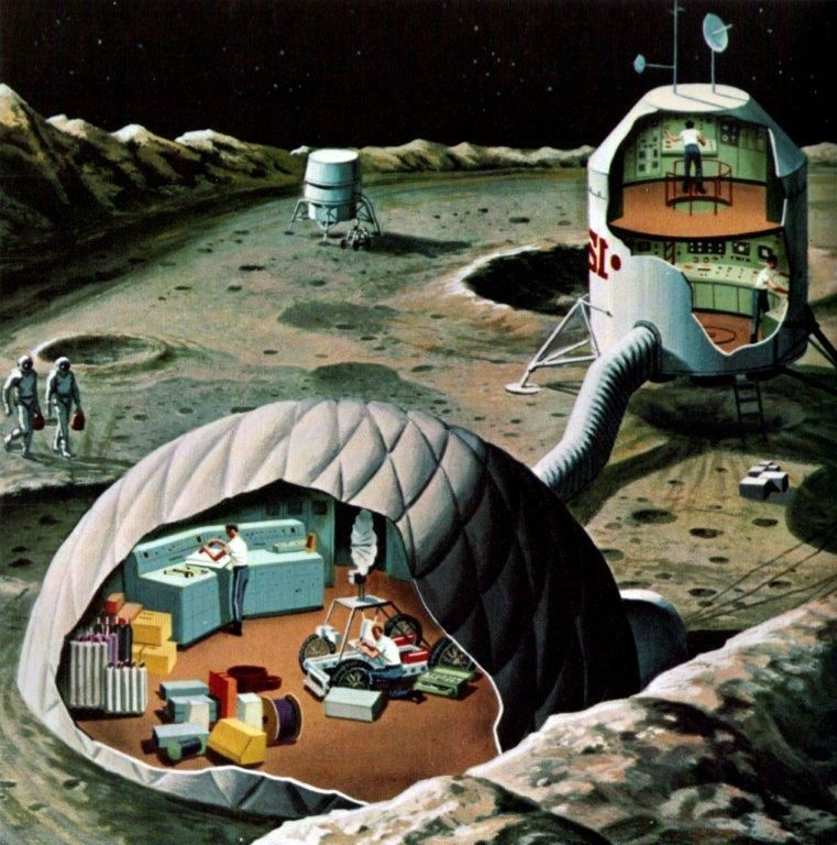 The Suburban Bachelor: Temporary Lunar Settlement Retro-futurism In French