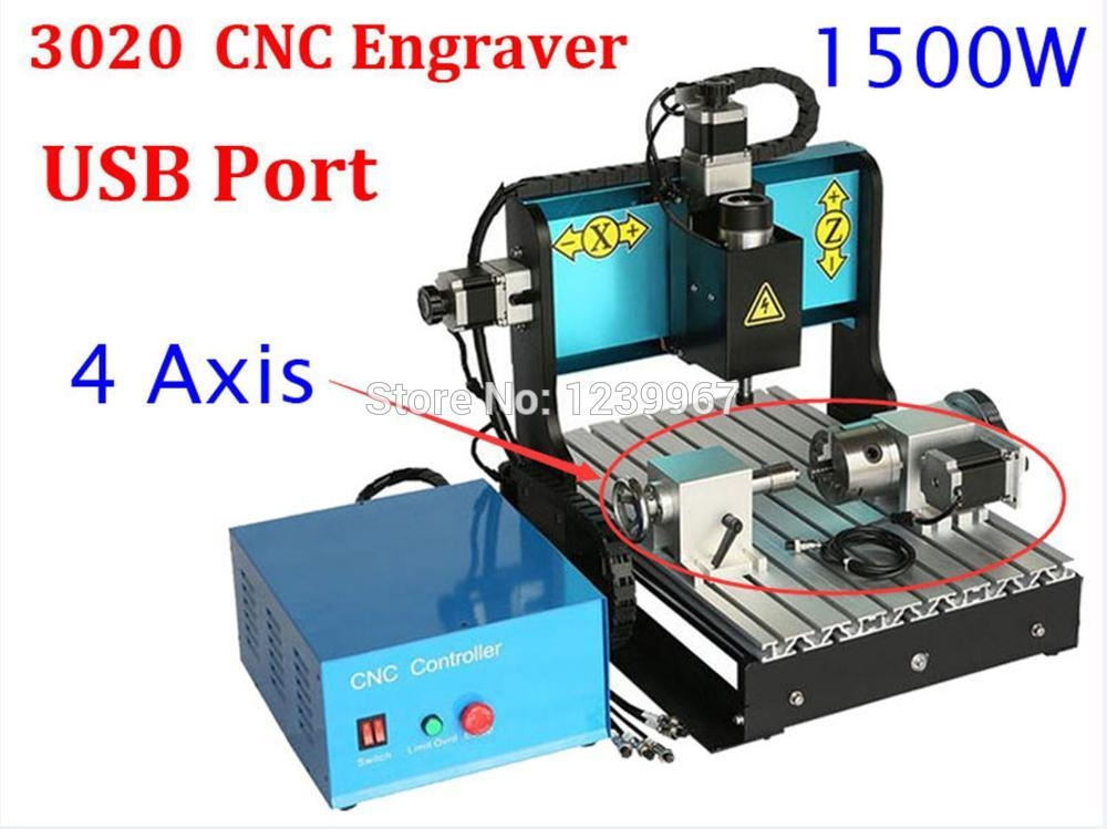 1789.00$ Know more - 4 Axis 1500w CNC 3020 Engraving Machine 1.5kw ...