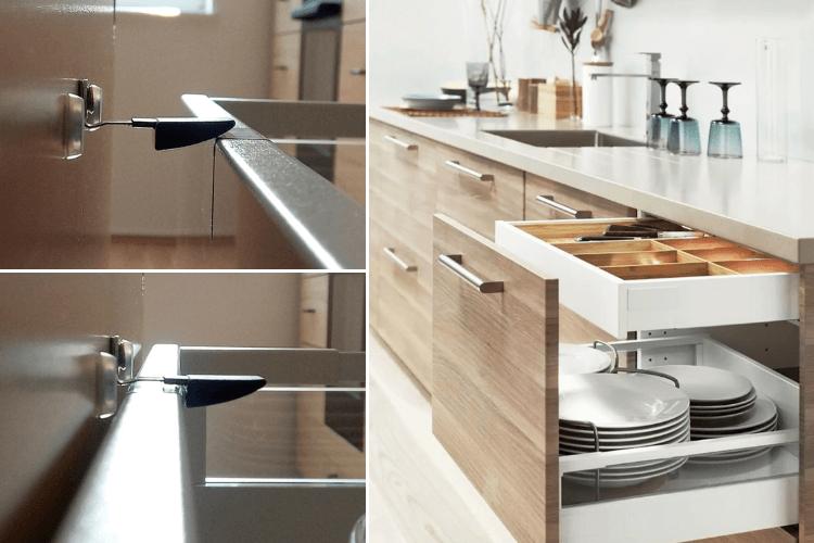 Drawer Latch For Ikea Maximera Internal Drawers Ikea Hackers Ikea Kitchen Cabinets Kitchen Cabinet Drawers Ikea Kitchen