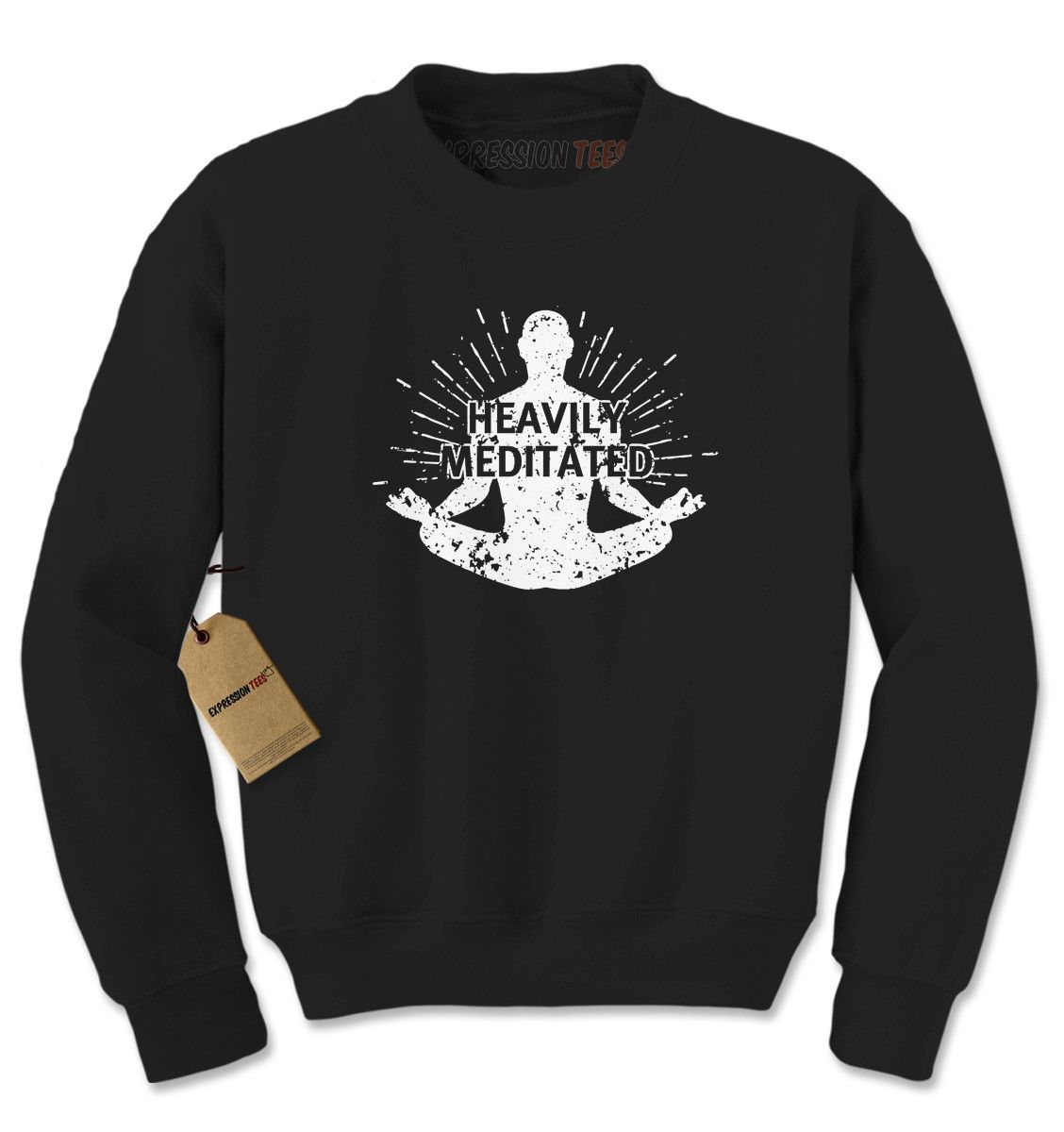 Heavily Meditated Adult Crewneck Sweatshirt