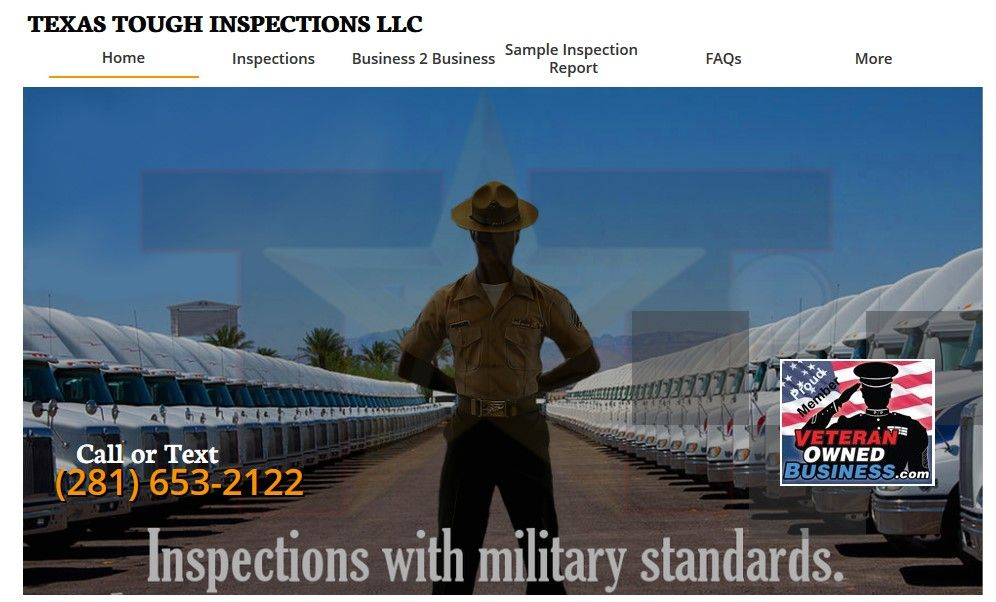 "aboard ARMY SDVOSB ""Texas Tough Inspections"" of"