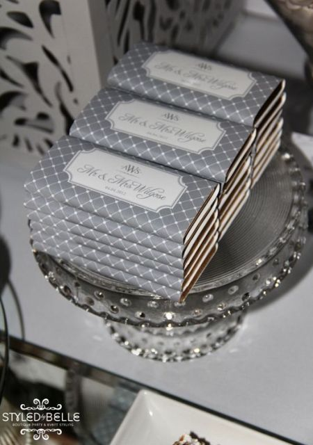 Cly Silver Chocolate Bar Favors See More Wedding And Party Ideas At Www One Stop