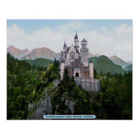 Neuschwanstein Castle, Bavaria, Germany Poster