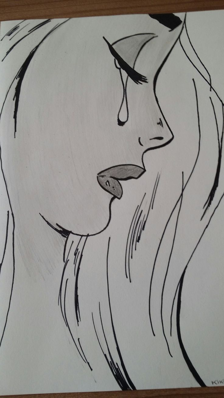 sad girl drawings. drawing ideas for beginners. visit my youtube channel to learn drawing and coloring - Taylor Yurkiw