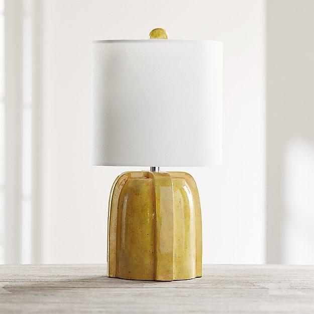 Arenson Yellow Ceramic Table Lamp Reviews Crate And Barrel In 2021 Ceramic Table Lamps Yellow Table Lamp Table Lamp