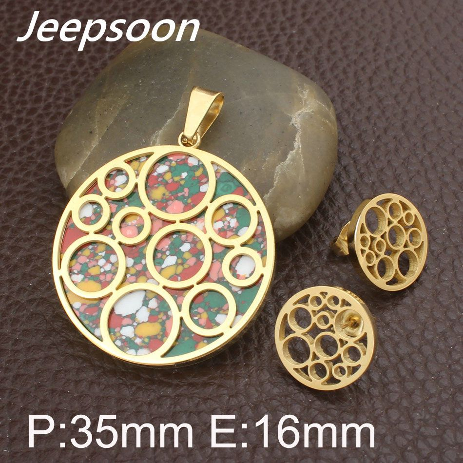 Round pattern newest fashion stainless steel jewelry colors
