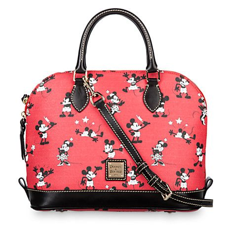 Mickey and Minnie Mouse Retro Satchel by Dooney & Bourke - Red | Disney Store