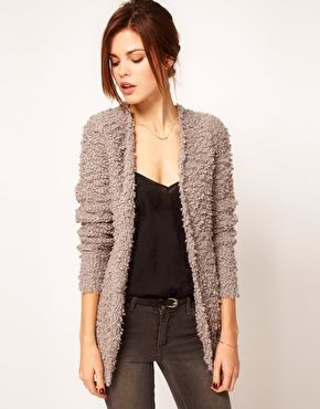 Enlarge Warehouse Fluffy Textured Cardigan | STYLE | Pinterest ...