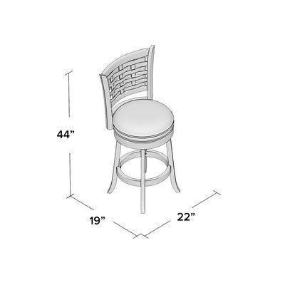 Alcott Hill Ansari 29 Swivel Bar Stool Finish Cappuccino Seat Height Bar 29 Swivel Bar Stools 24 Bar Stools 30 Bar Stools