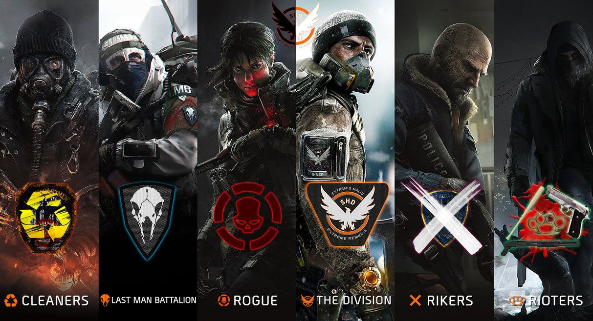 All The Faction In The Division Division Games Division