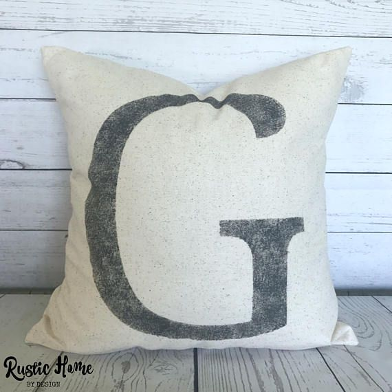 Initial Pillow Covers Awesome Best Seller Initial Pillow Rustic Letter Pillow Cover  Gotta Get 2018