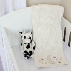 Star And Moon Cellular Cotton Baby Blanket Available Online At Http Www Babesandkids Co Za Luxury Baby Bedding Baby Bed Cot Sheets
