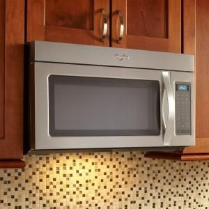 Whirlpool 1 7 Cu Ft Over The Range Microwave In Stainless Steel Wmh31017as At