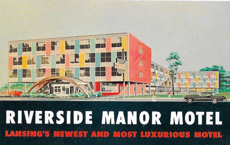 Postcard Mid Century Modern Googie Motel by NelliesCupboard  $10