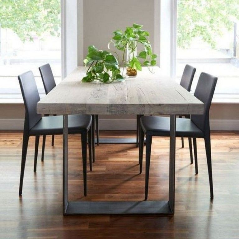 24 Top Modern Industrial Dining Furniture Set Design And Decorating Ideas Page 26 Of 26 Wood Dining Table Metal Dining Table Contemporary Dining Room Sets