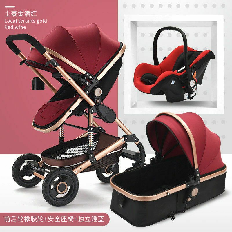 High end Pram foldable Baby Stroller 3 in 1 High Landscape