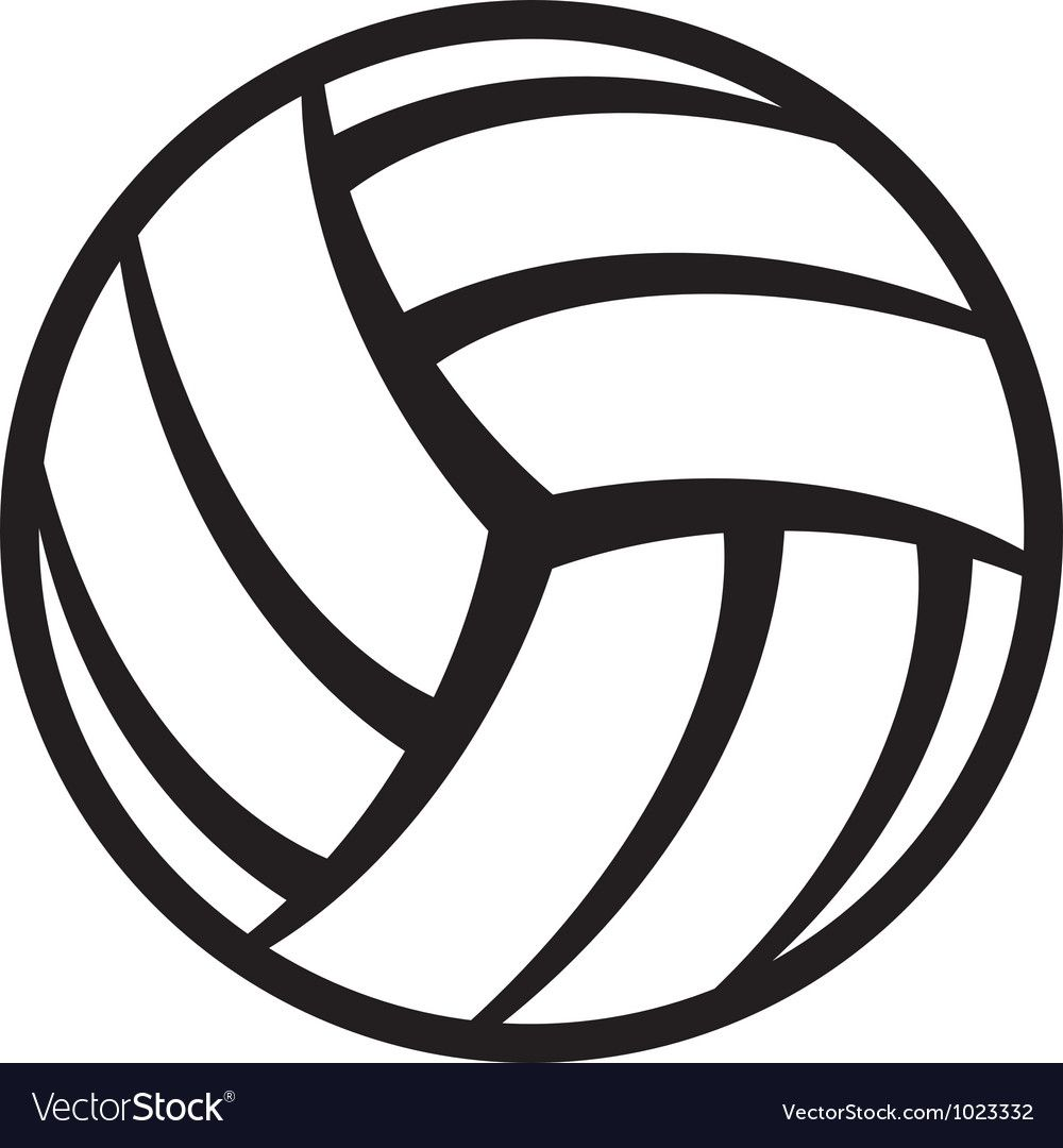 Volleyball Ball Royalty Free Vector Image Vectorstock Spon Royalty Ball Volleyball Free Ad In 2020 Volleyball Clipart Volleyball Stock Art
