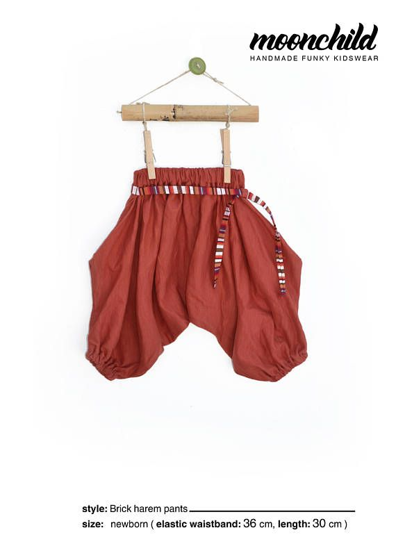 497e3eb04fc57 Moonchild Kidswear Harem Pants for Babies//SIZE NEWBORN//Hippie Baby ...
