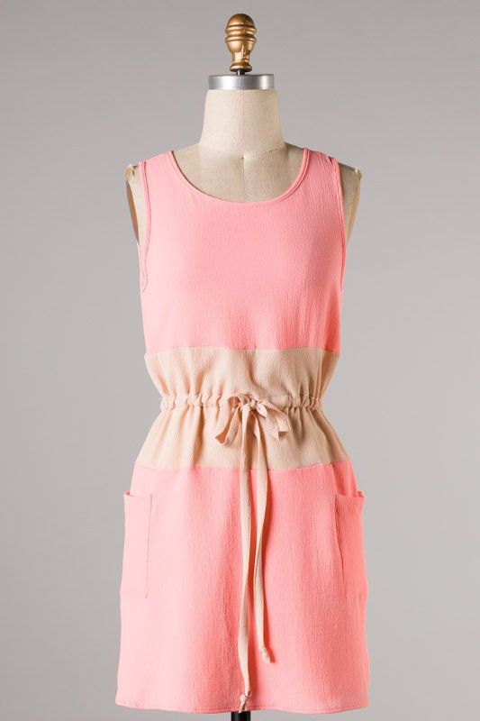 All Wrapped Up Pocket Dress-Pink
